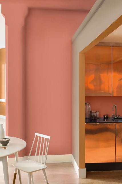 Sombra de Cedro: o laranja-acobreado é superversátil e sofisticado. Foto: Tintas Coral.