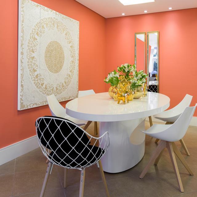 Coral Reef - Ambiente Sala de almoço - Arquiteta Eliana de Souza