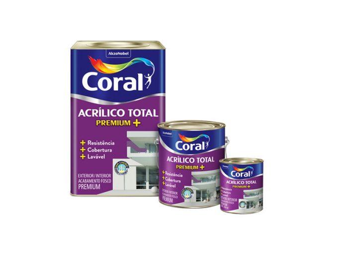 Tinta Coral Acrílico Total