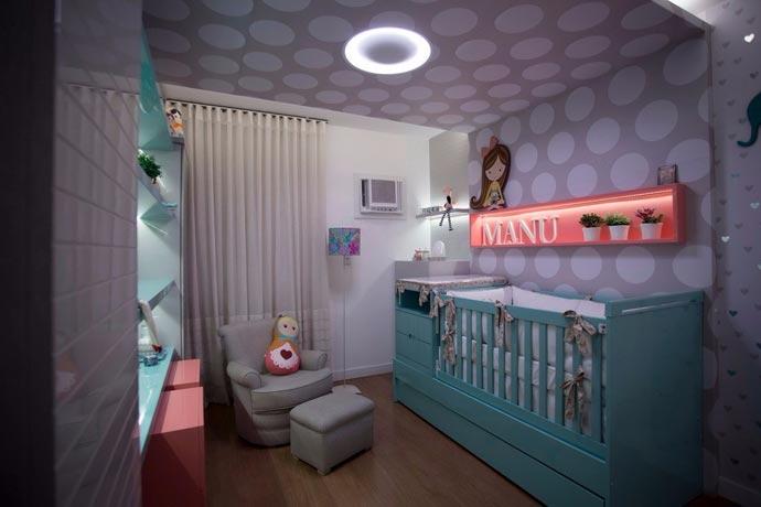 Decoração quarto do bebê - quarto da Manu