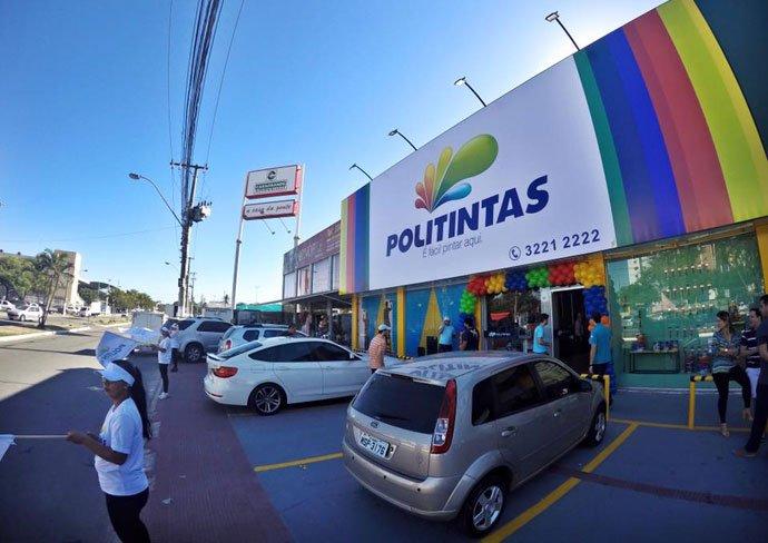 Nova loja Politintas - fachada da loja