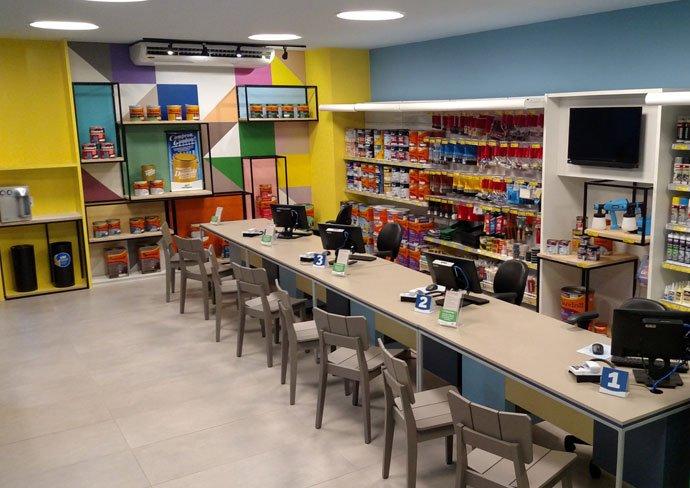 Nova loja Politintas - interior da loja