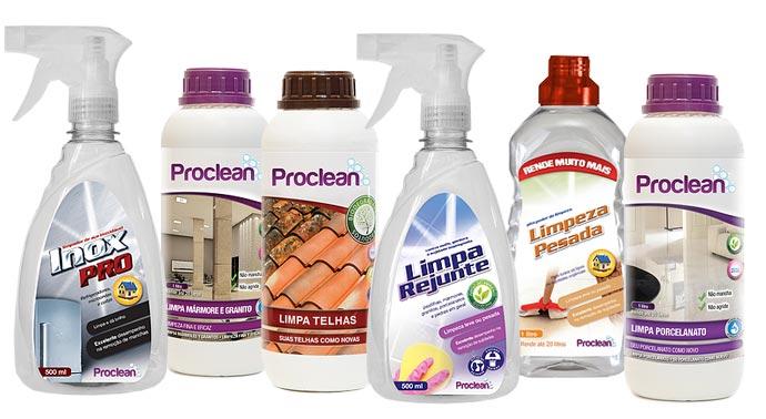 Produtos Proclean para limpar sua casa