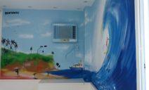Decoração de quarto infantil com grafitti