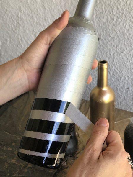 Como pintar garrafa de vidro utilizando spray - resultado