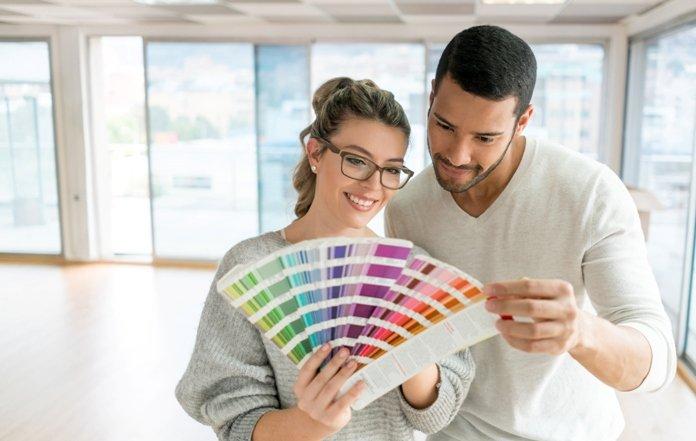 escolhendo a cor das paredes