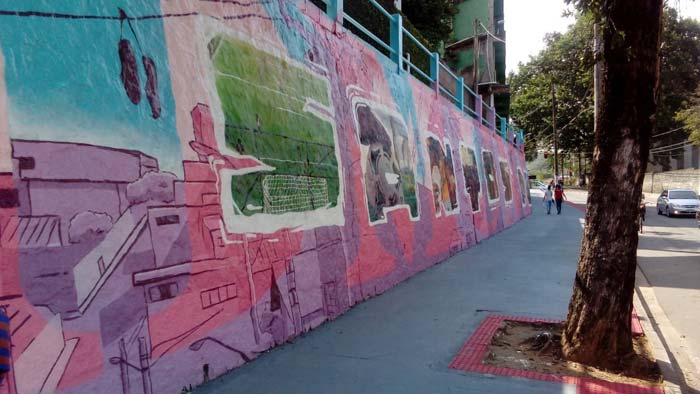 Painel em Graffiti em Santos Dumont, Vitória
