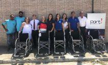 Politintas doa mais 5 cadeiras de rodas