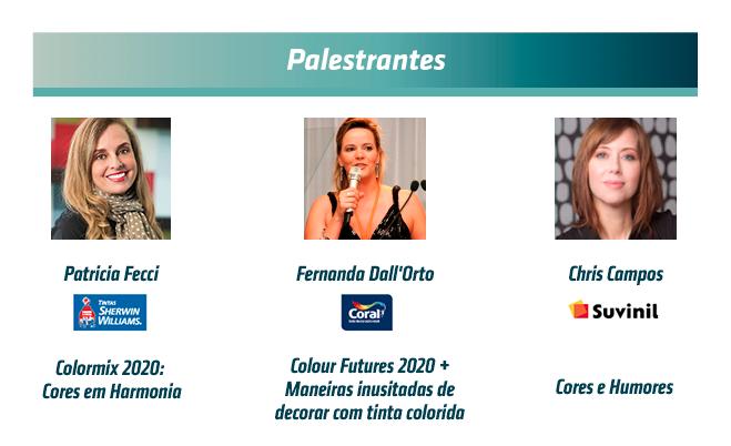 Palestrantes Workshop Tendências de Cores 2020
