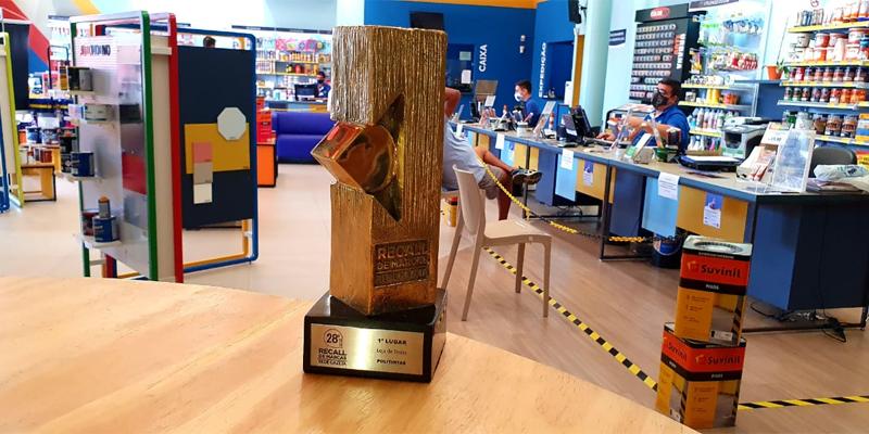 Pelo 17º ano consecutivo, a Politintas ficou em primeiro lugar no segmento Loja de Tintas do Recall de Marcas da Rede Gazeta.